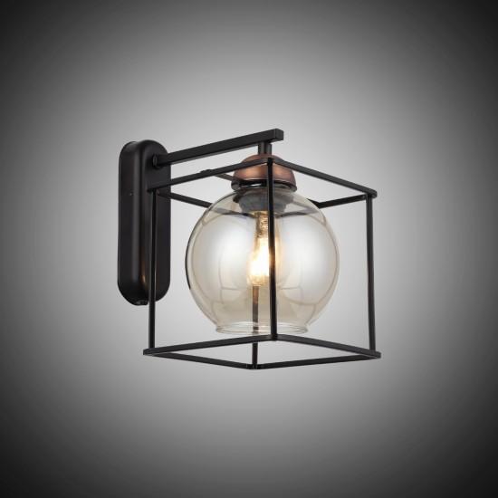 Arne Siyah Bakır Renk Tekli Modern Aplik 1435-74-19